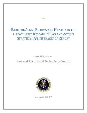 Harmful Algal Blooms Report cover